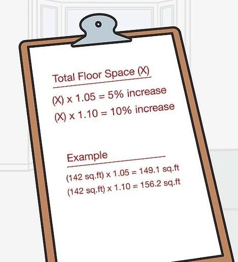 如何测量地板场地和地板用量