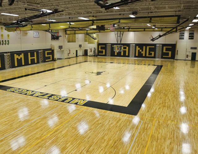 篮球场专用运动木地板,体育运动木地板,篮球地板厂家