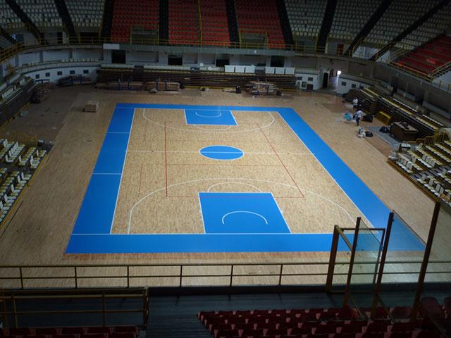 篮球场专用运动木地板,运动木地板厂家
