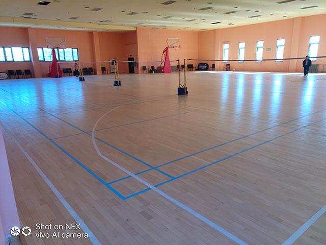 北京海淀天秀路东方启明星篮球馆木地板