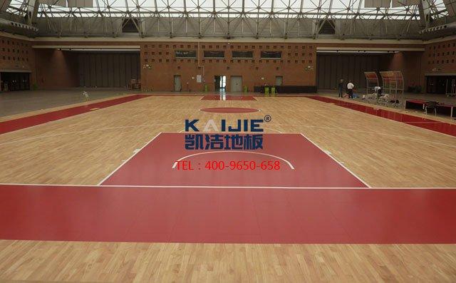 羽毛球馆木地板刷漆,篮球馆木地板刷漆