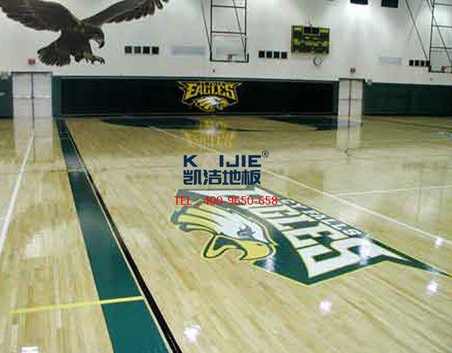 篮球场运动木地板起泡原因——凯洁地板