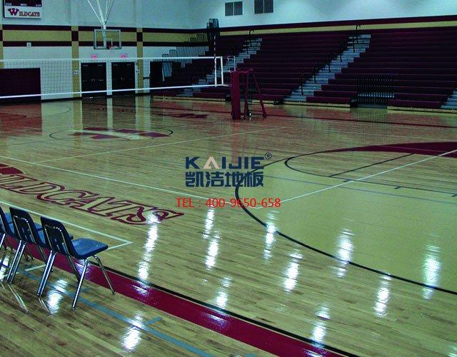 羽毛球馆运动木地板起泡原因——凯洁地板