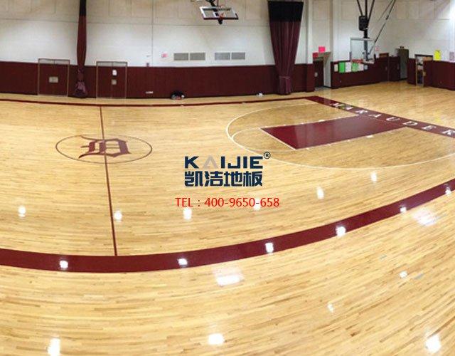 羽毛球馆专业运动木地板安装——凯洁地板