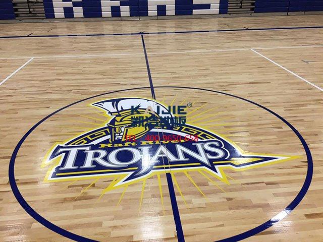 篮球馆专用运动木地板安装——凯洁地板
