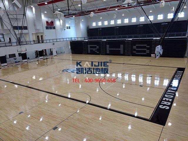羽毛球馆专用运动木地板安装——凯洁地板