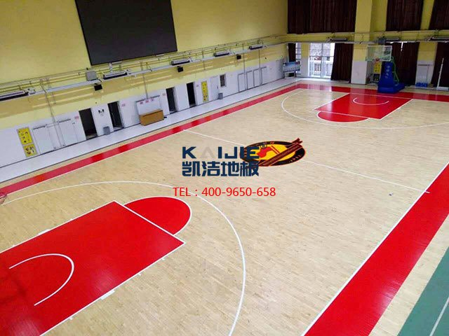 体育馆专用运动木地板安装——凯洁体育木地板