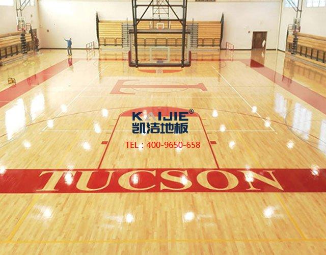 篮球馆专用体育木地板龙骨结构——凯洁体育木地板