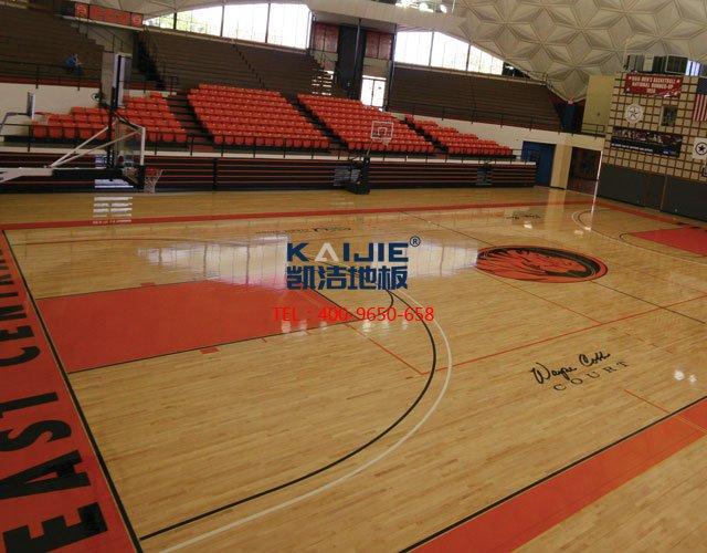 室内篮球馆专用体育木地板结构——凯洁体育木地板