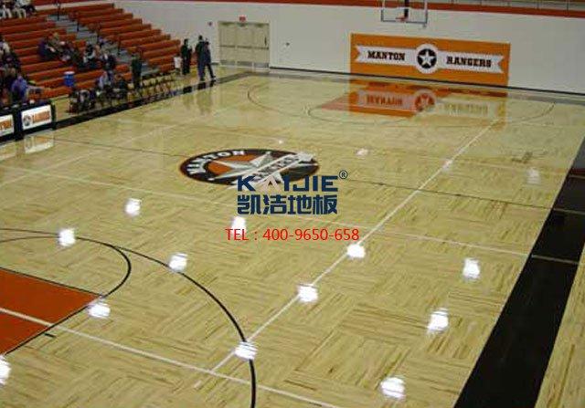 体育馆木地板安装流行使用锁扣——凯洁体育木地板