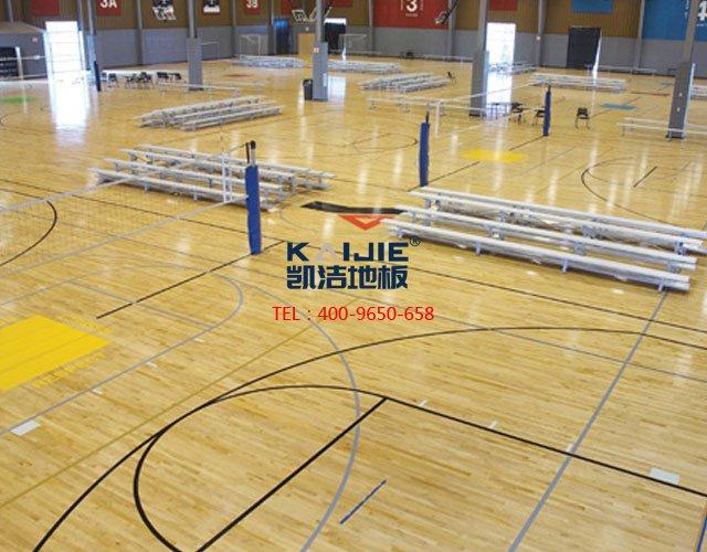 专业体育馆体育运动木地板安装——凯洁体育木地板