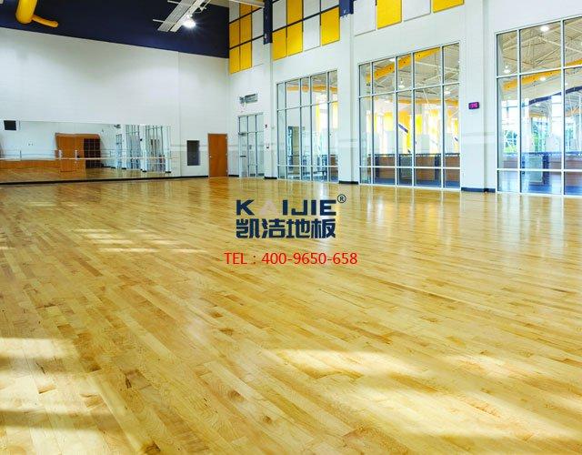 室内专用体育木地板使用什么程度适合翻新——凯洁体育木地板