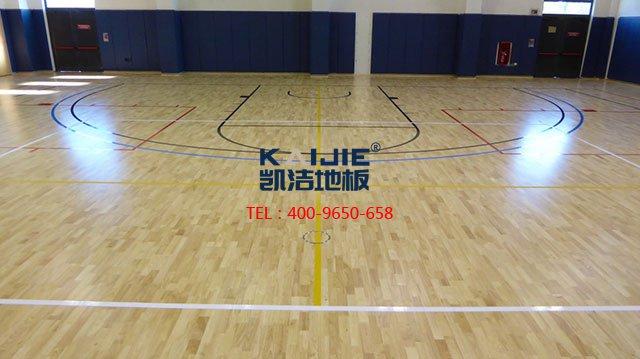 体育馆专用运动木地板龙骨安装——凯洁体育木地板