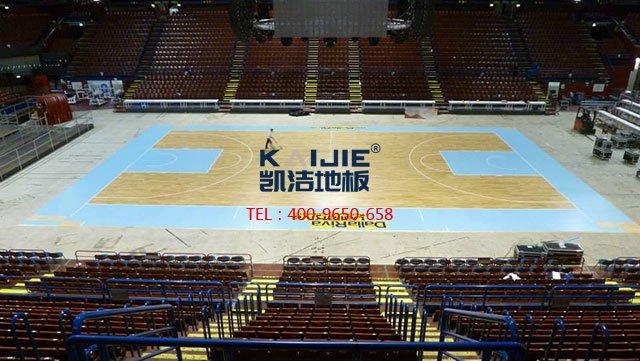 篮球馆专用体育木地板毛板安装——凯洁体育木地板