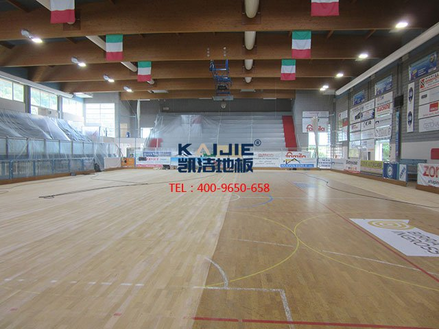 体育馆专用运动木地板特点——凯洁体育木地板