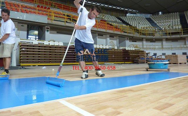 体育馆专用运动木地板需要专业安装团队——凯洁体育木地板