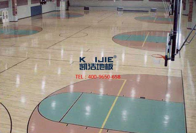 体育馆运动木地板多少钱一平+凯洁体育木地板