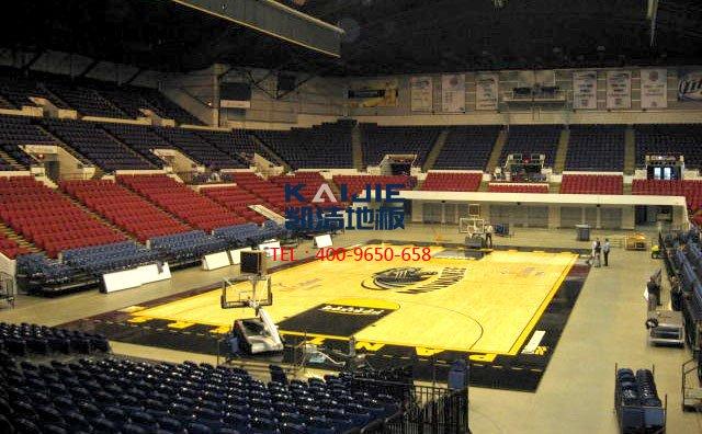 体育馆专用运动木地板多少钱一平米——凯洁体育木地板
