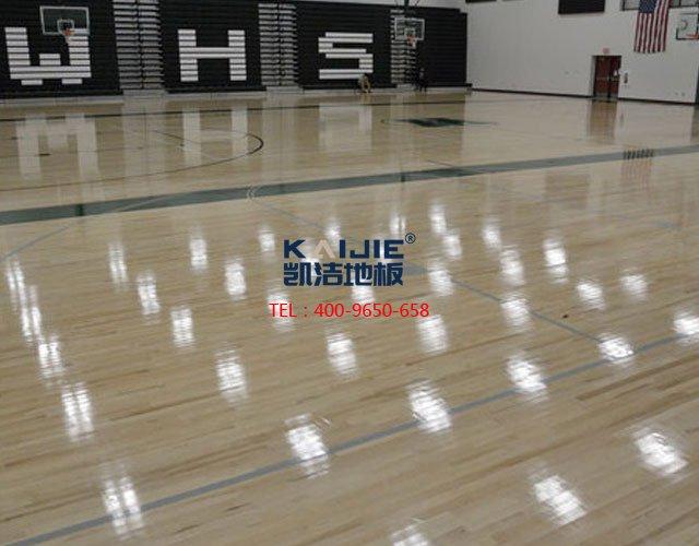 体育运动木地板安装流程——凯洁体育木地板