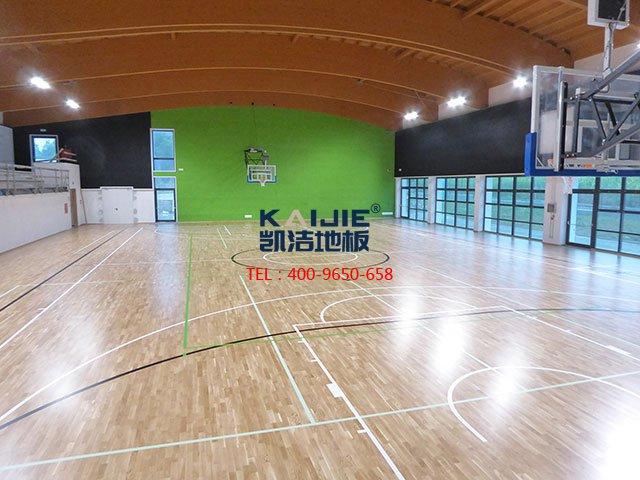 专业体育馆运动木地板结构——凯洁体育木地板