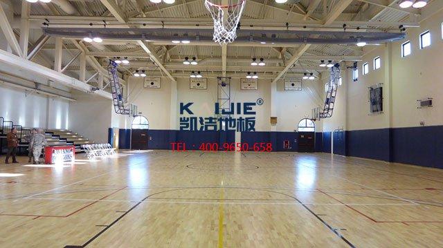 专业体育馆运动木地板施工流程——凯洁体育地板