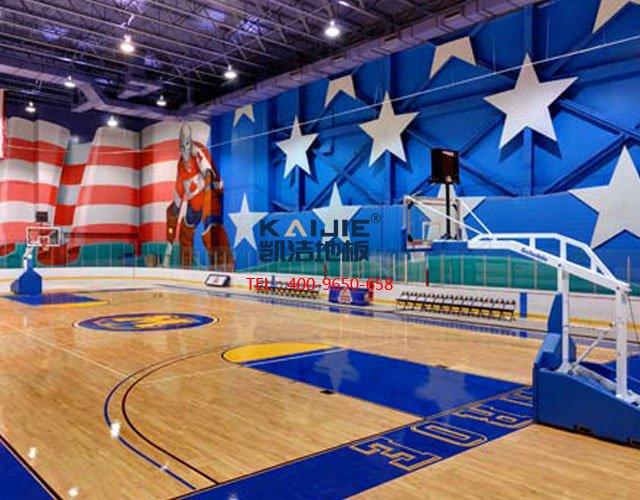 专业体育馆运动木地板翻新流程 体育木地板厂家——凯洁地板