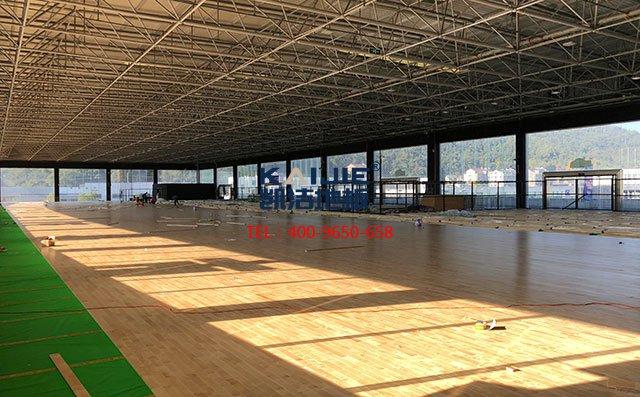 衡阳市铁一中学生体育馆运动木地板工程案例——凯洁地板