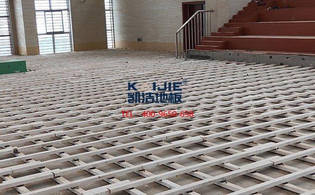 内蒙古通辽一中学生体育馆运动木地板项目案例——凯洁地板