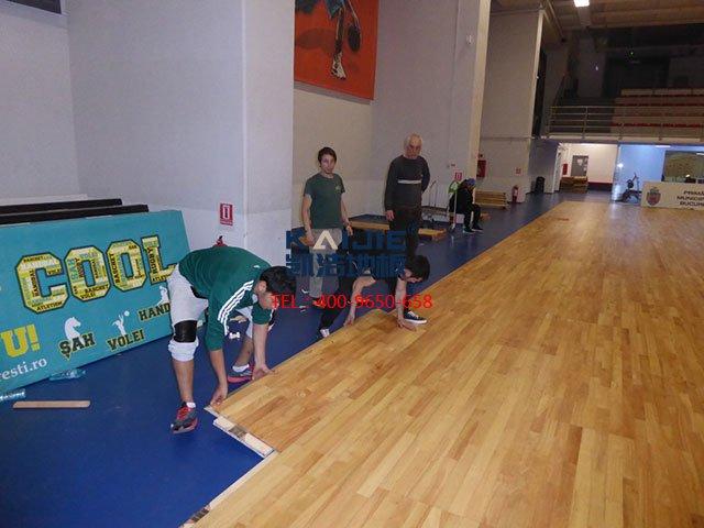 2018室内体育馆木地板结构与安装要求——凯洁地板
