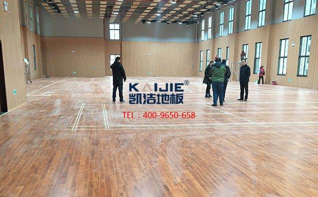 体育馆木地板安装施工艺,很全很专业——凯洁地板