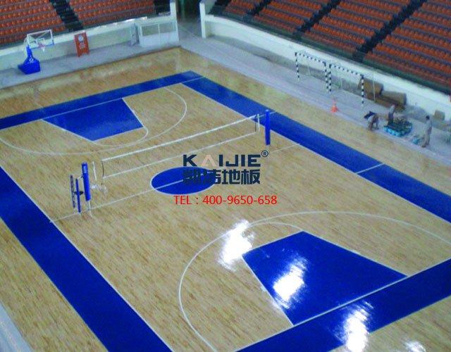 专业体育馆木地板龙骨结构安装过程——凯洁地板