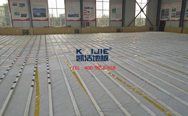 专业体育木地板安装操作详细流程——凯洁地板