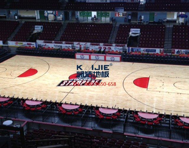 体育运动木地板厂家助力大学生篮球联赛——凯洁地板