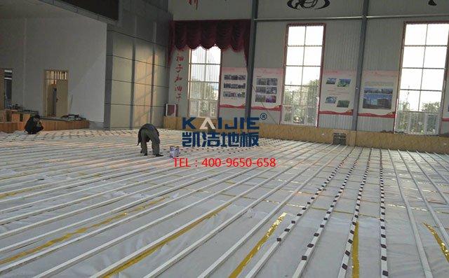 专业体育馆木地板厂家的安装标准——凯洁地板