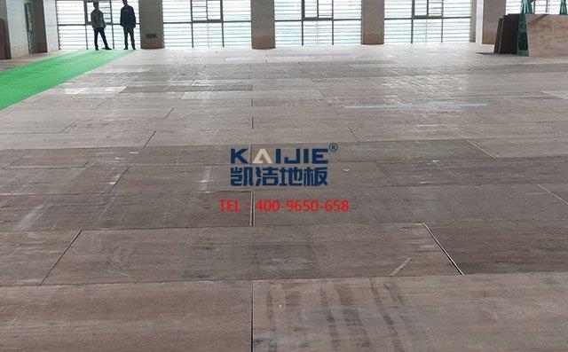 体育馆双层龙骨结构木地板是怎么安装的——凯洁地板