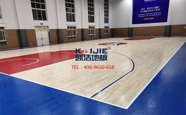 专业体育馆木地板是怎么刷漆的——凯洁地板