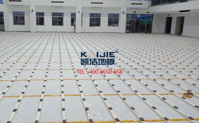 体育馆木地板龙骨结构怎么选择好——凯洁地板