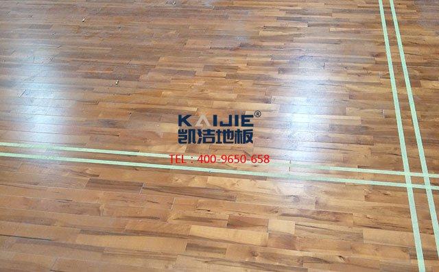 体育馆木地板划线用漆应该注意这些——凯洁地板