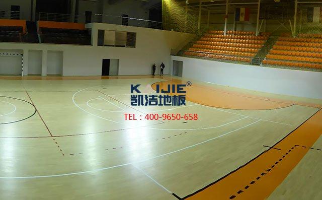 体育馆木地板接缝专业处理方法——凯洁地板