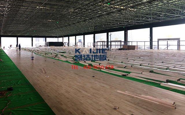 专业运动木地板篮球木地板厂家——凯洁地板