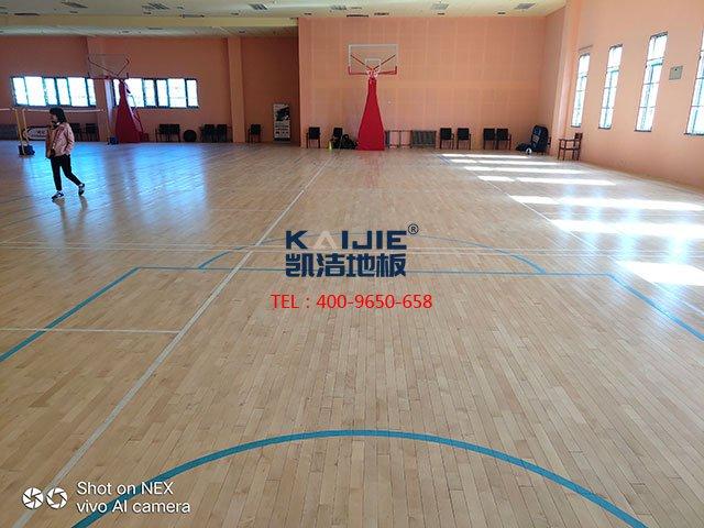 室内标准篮球场木地板什么好——凯洁地板