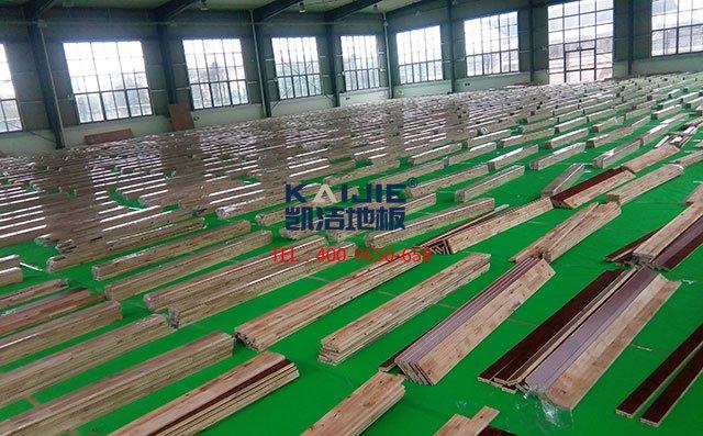 常犯的运动木地板错误安装情况——篮球场木地板安装