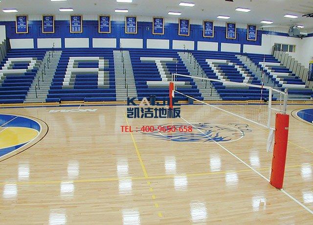 NBA专业篮球场木地板怎么铺装的——凯洁地板