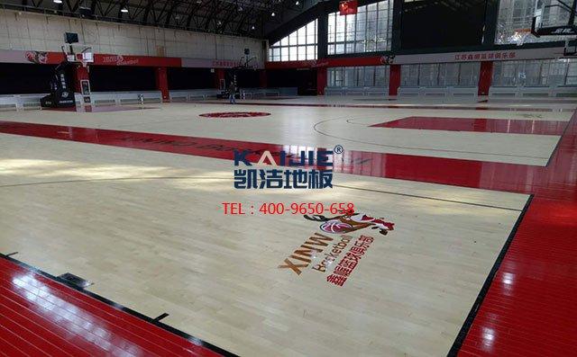 健身房体育运动木地板厂家哪家好——凯洁地板