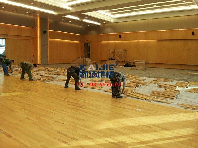 体育运动木地板场馆怎么施工——篮球场木地板