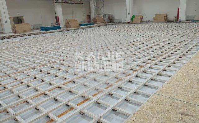 室内篮球场运动木地板施工方案——凯洁地板