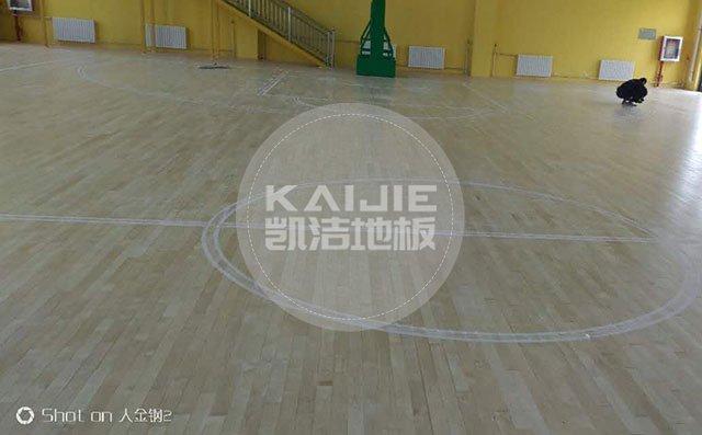 体育馆运动木地板施工计划——凯洁地板