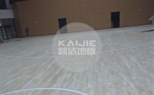 篮球场运动木地板有几种划线方法——凯洁地板