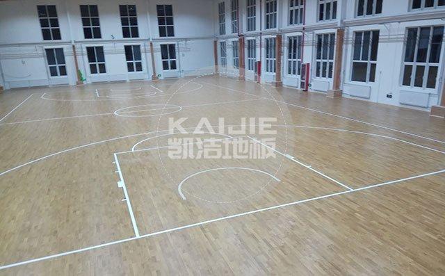 篮球场运动木地板有几种划线方法—体育地板厂家