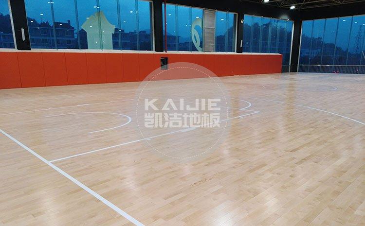 体育运动场馆适用家用木地板行吗——凯洁地板